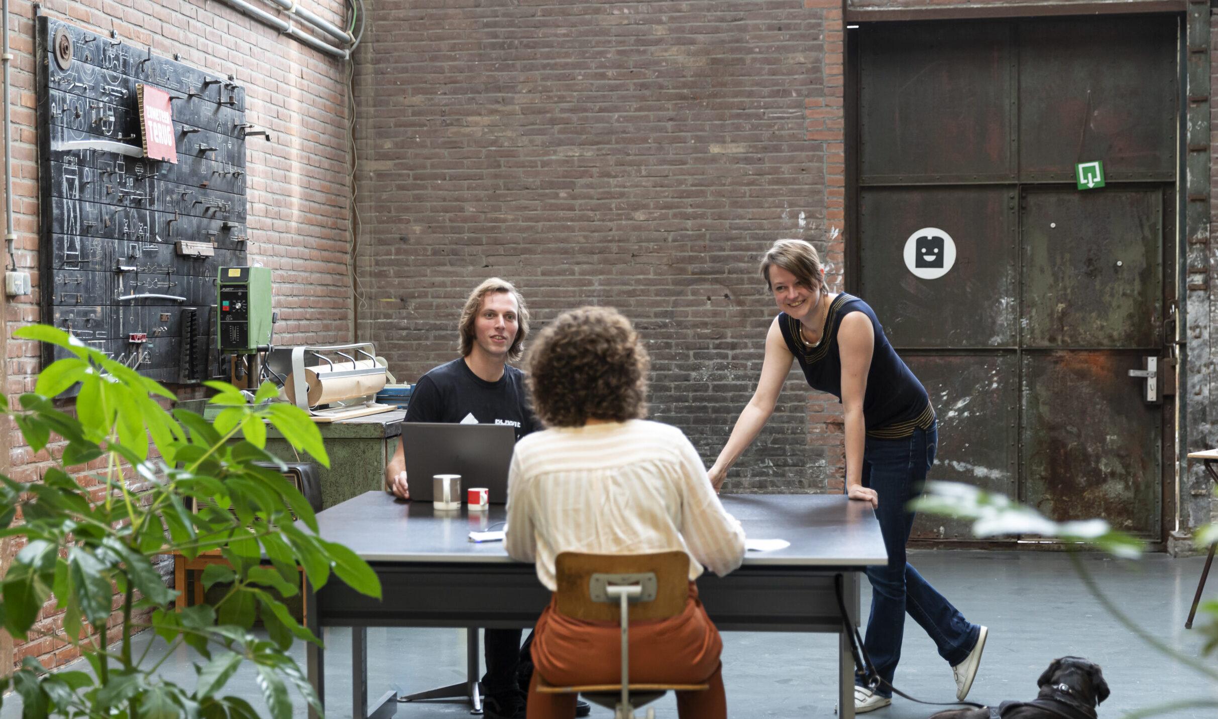 De ontwerpers van ontwerpbureau de Kabelfabriek in Delft. Foto: Marianne Q
