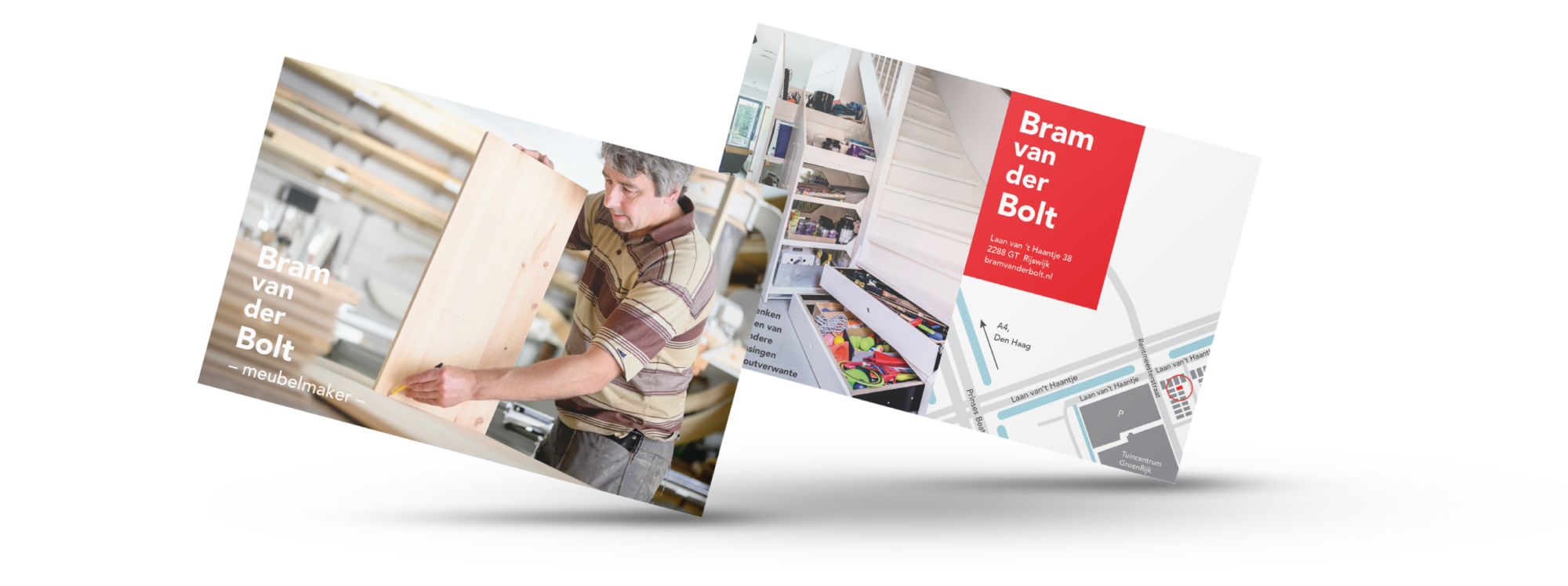 Met een eenvoudige flyer kom je een heel eind als je deze op de juiste plekken weet te verspreiden. Dat deed meubelmaker Bram.
